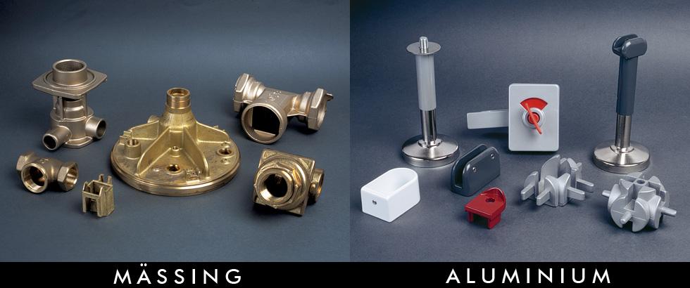 Mässing och aluminium